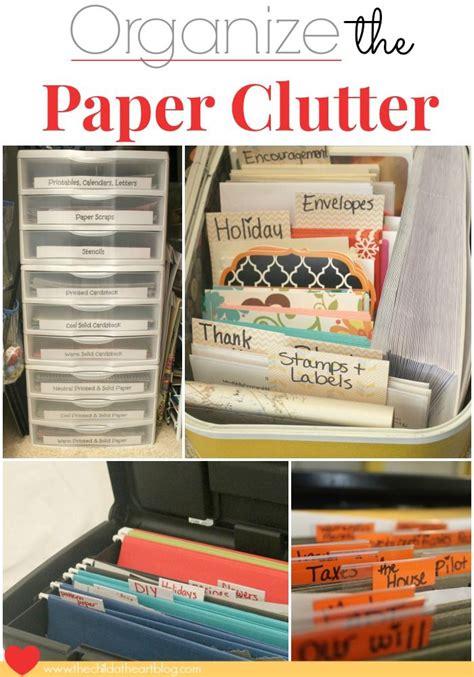 organizing clutter organize paper clutter