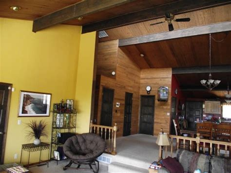 what color should i paint wood paneling hi all we a 1974 home we but that has