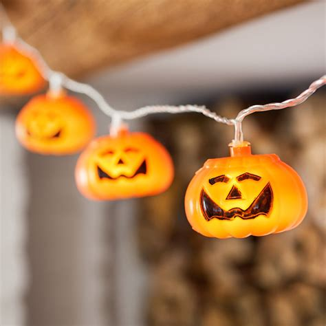 15 Led Orange Pumpkin Halloween Fairy Lights Lights4fun Pumpkin Lights