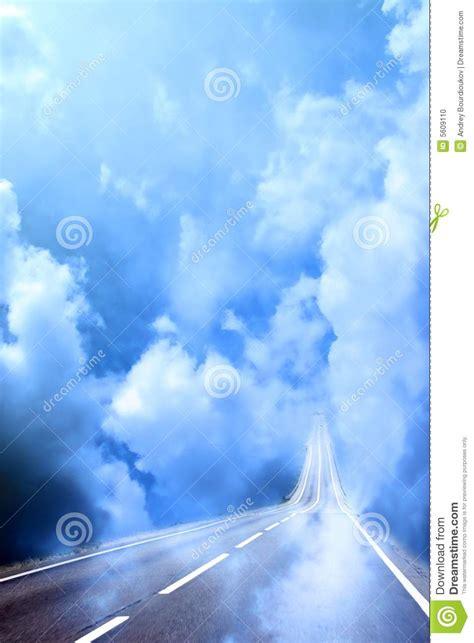 le porte cielo camino abstracto coche foto de archivo imagen 5609110