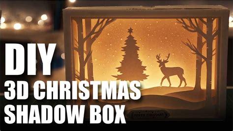diy  christmas shadow box card youtube