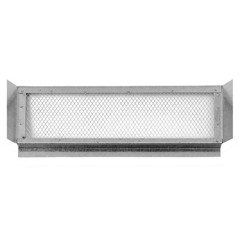 vent lowes shop cmi 22 25 in l silver galvanized steel soffit vent at