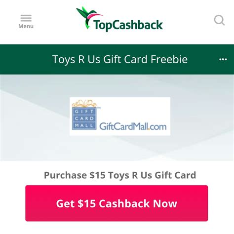 How To Check Toys R Us Gift Card - hot free 15 toys r us gift card after 100 rebate northshore mama