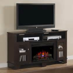 lasalle electric fireplace media console in oak espresso