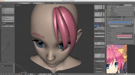 Anime 3d Model Maker by How To Model Style Hair In Blender Bezier