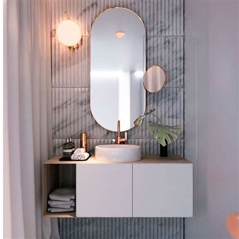 bathroom powder room ideas best 25 oval bathroom mirror ideas on half