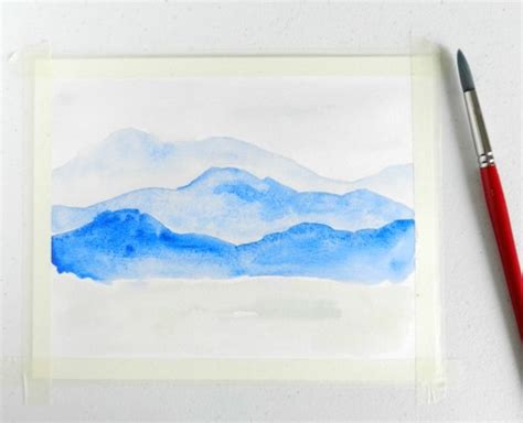 watercolor tutorial mountains watercolor mountains step by step tutorial