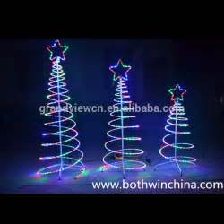 led outdoor spiral rope light christmas tree for street
