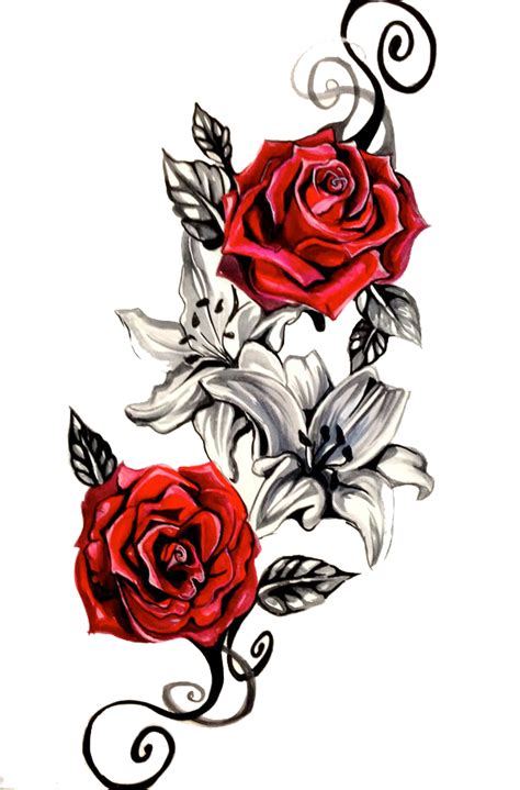 cartoon rose tattoo png transparent images png all