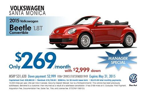 new beetle lease deals