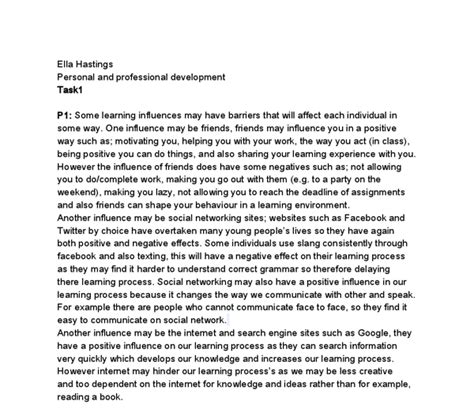 Personal And Professional Development Essay by Personal Professional Development Essay
