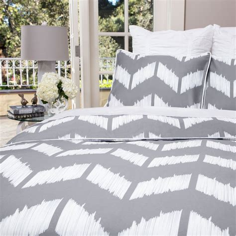 grey and white chevron bedding chevron duvet cover the addison gray crane canopy