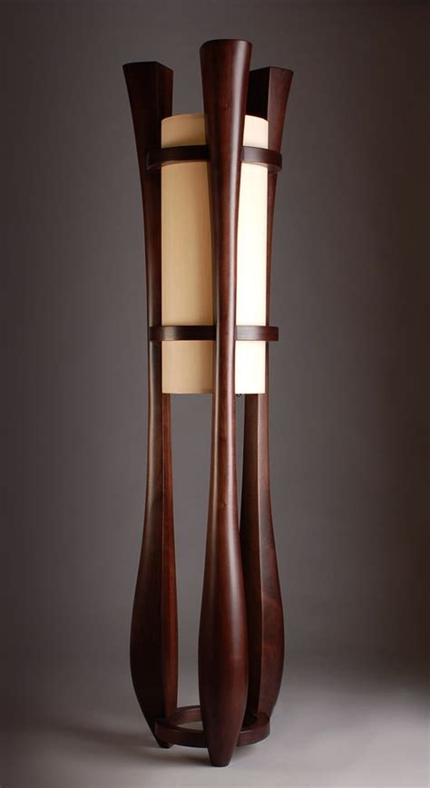 Handmade Home Decor Projects by Hand Made Quot Chronos Quot Three Legged Walnut Floor Lamp By Kyle