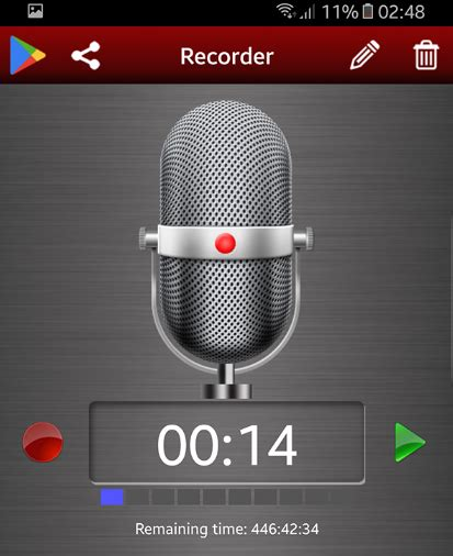 Android Voice Recorder by Graphics Creators Software And Tools