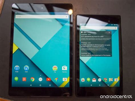 Nexus 7 Vs 9 by Nexus 9 Vs Nexus 7 Comparatif Vid 233 O Des Deux Tablettes