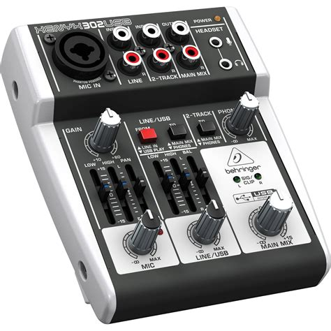 Mixer Behringer Mini behringer xenyx 302usb 5 input compact mixer and usb