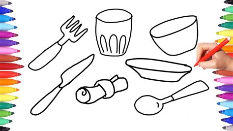 coloring table coloring pages kitchen set for learning coloring