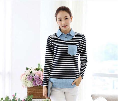 Baju Kaos Wanita My Melody kaos kemeja wanita model garis garis modis myrosefashion