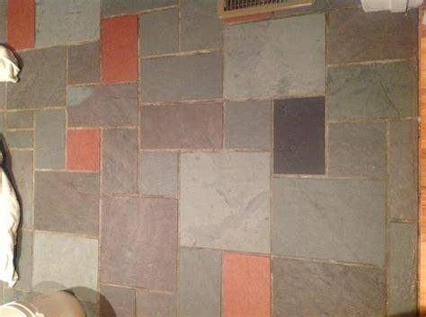 Restoring a slate floor foyer   Ceramic Tile Advice Forums