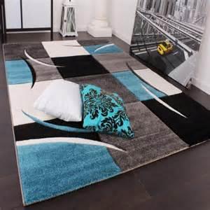 tapis de salon bleu turquoise et orange chaios