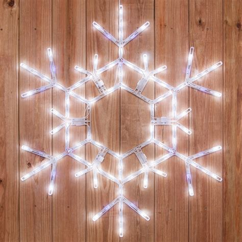 outdoor lighted snowflake decorations snowflakes 36 quot led folding twinkle snowflake decoration 105 cool white twinkle lights