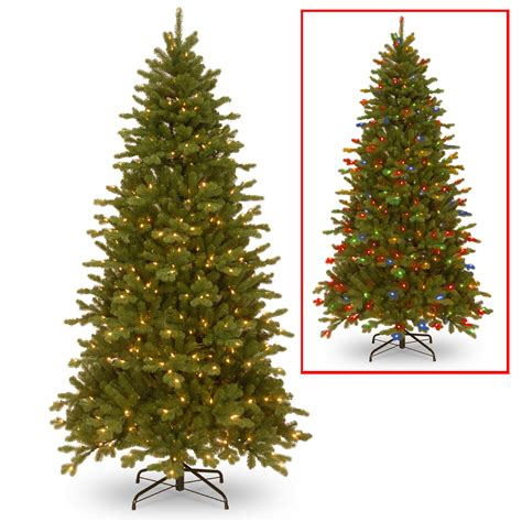 National Tree Company 7 5ft Quot Feel Real Quot Sheridan Spruce Dual Light Tree