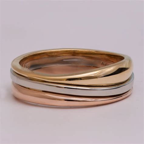 Wedding Bands Unique tricolor wedding band unique wedding band wedding ring