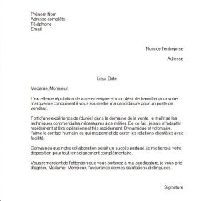 modele lettre motivation zara document