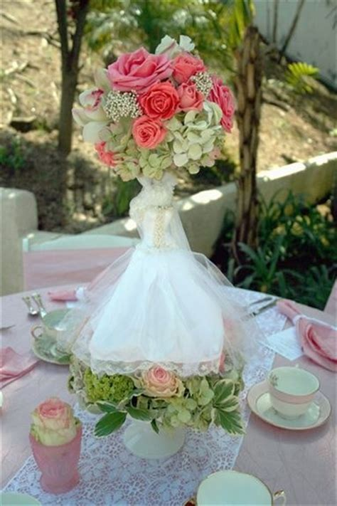 bridal shower photo centerpieces 2 bridal shower centerpiece pink flower