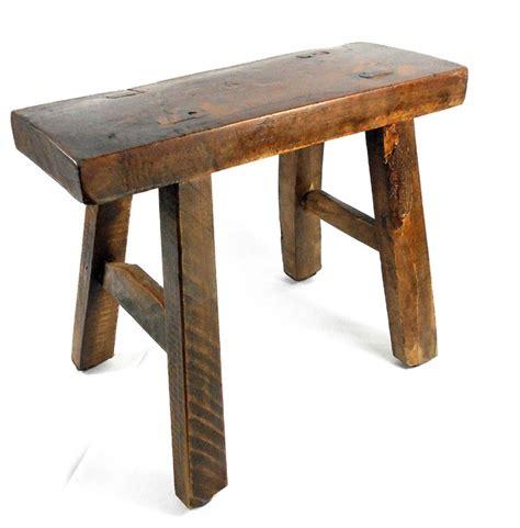 Tiny Primitive Wooden Stool Home Decor Rustic Accent