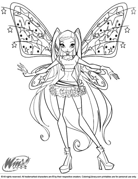 winks free coloring pages