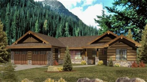 rancher logging ranch floor plans log homes ranch style log home plans