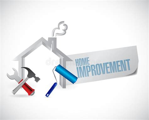 Home Improvement Design Tool | home improvement sign and tools stock illustration