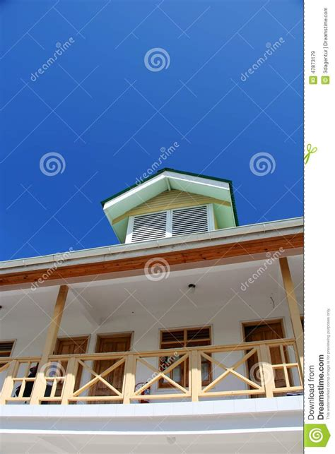 blue house real estate blue sky summer house real estate stock photo image