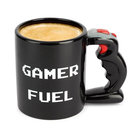 Gamer Fuel Mug Large 650ml Ceramic Tea & Coffee Cup Black Video Game Gift   eBay