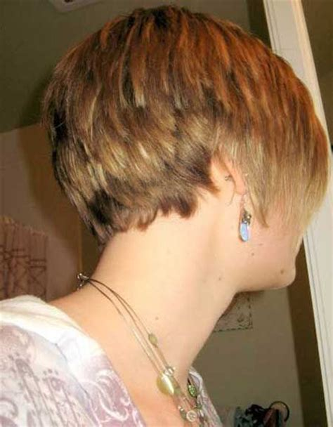 short short stacked bob wedge bob hairstyle back view women s bob hairstyles 2013