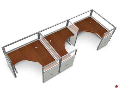 Office Cubicle Desks The Office Leader 3 Person L Shape Office Desk Cubicle Cluster Workstation