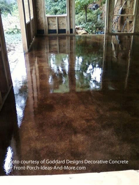 How To Paint Patio Floor Staining Concrete Floor Basics Concrete Stain Sealer