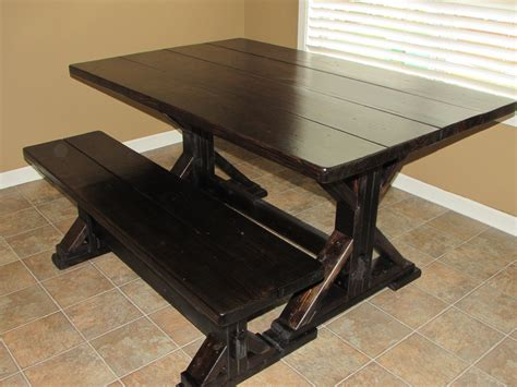 farm table bench custom square farmhouse farm table w matching benches