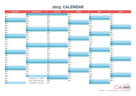 calendar 2015 year planner
