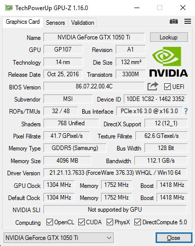 msi geforce gtx 1050 ti gaming 4gb review – geeks3d