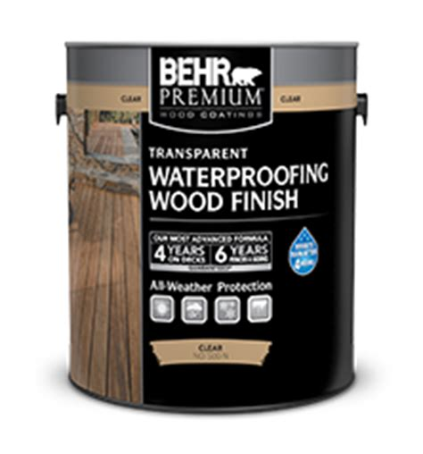 premium transparent weatherproofing wood finish behr paint