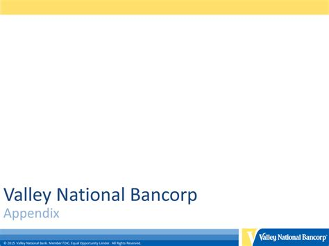 Valley National Bank Letter Of Credit Form 8 K Valley National Bancorp For Sep 29