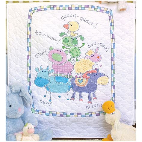 Cross Stitch Baby Quilt by Dimensions Baby Hugs Quot Farm Friends Quot Quilt Sted Cross