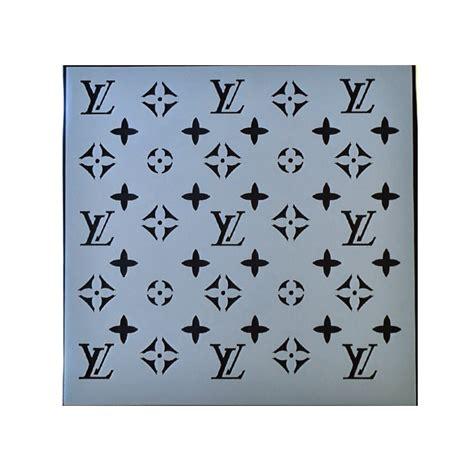 lv pattern stencil stencils louis vuitton cake ideas and designs
