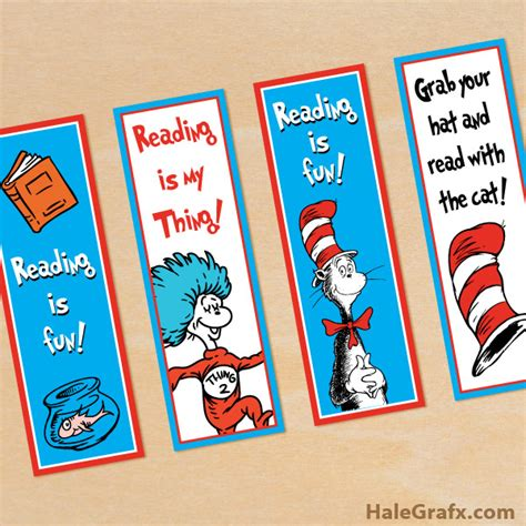 printable bookmarks dr seuss free printable dr seuss cat in the hat bookmarks