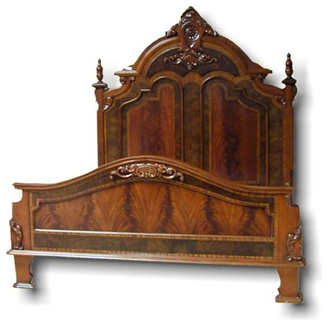 King Bed Victorian Style Carved Double Traditional Neo Renaissance King Bedroom Set