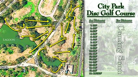 louisiana golf map city park layout in new orleans la disc golf