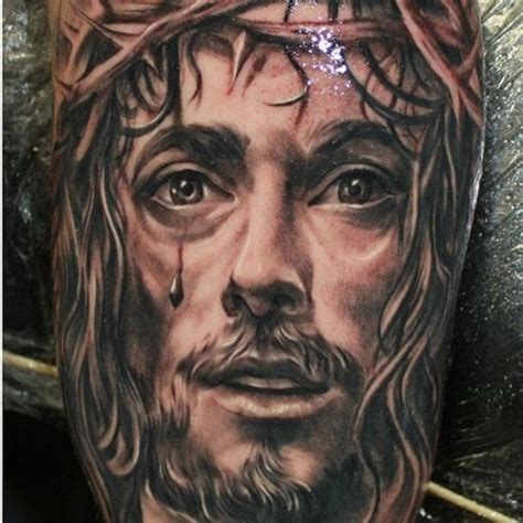 jesus face tattoo design jesus tattoos ink inked jesus