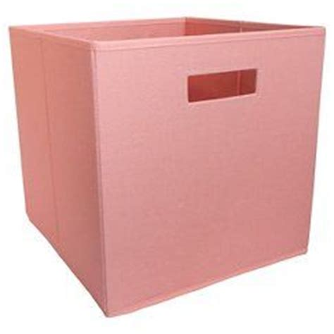 fabric cube storage bin coral pillowfort living room